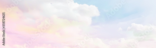 Photo clouds watercolor tint, pink clouds gradient background sky, atmosphere air free