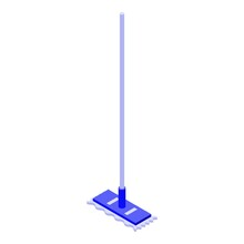 Cleaning Mop Icon. Isometric Of Cleaning Mop Vector Icon For Web Design Isolated On White Background