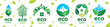 Vector set of icons for ecological houses