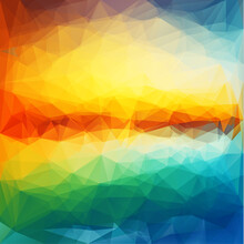 Abstract Sunset Colorful Geome...