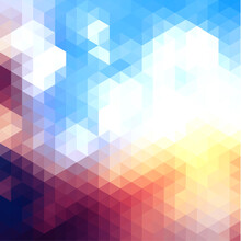 Abstract Vibrant Mosaic Backgr...