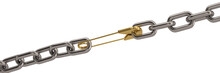 Safety Pin And Iron Chain Isol...