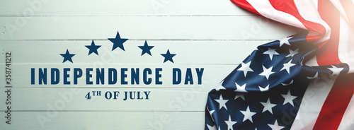 Fotografia USA Independence day 4th of July concept, United States of America flag