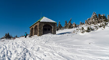 Jeleni Studanka Hut In Winter Jeseniky Mountains In Czech Republic