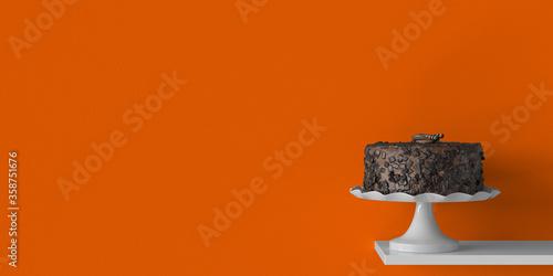 Fototapeta Süße leckere Schokoladentorte als Hintergrund Header obraz