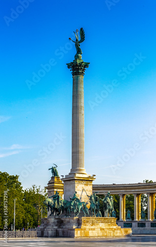It's Heroes square of Budapest, Hungary Fototapete