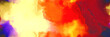 Leinwandbild Motiv abstract watercolor background with watercolor paint with pastel yellow, orange red and moderate violet colors. can be used as web banner or background