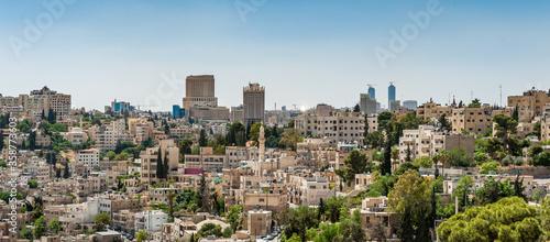 Obraz na plátně It's Architecture of Amman, the capital and the largest city of Jordan