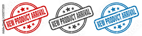 Photo new product arrival stamp
