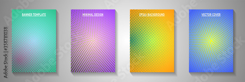 Obraz na plátně Abstract point faded screen tone title page templates vector series