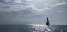 Racing Yacht In The Black Sea ...