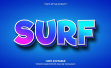Editable Text Effect, Surf Text Style