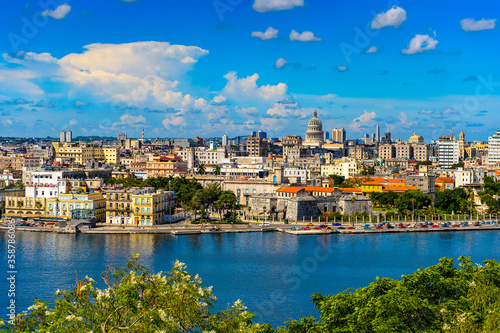 Panoramic view of Havana, the capital of Cuba Canvas