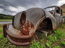 Rostlaube Oldtimer Autowrack