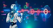 Robot Or Humanoid Cyborg Worki...