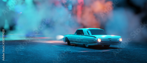 Photo 3d render realistic 1974 Ford Falcon, ford classic wallpapper trendy car wallpap