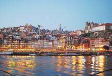 Downtown Porto City Lights And...