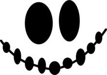Halloween Skull On A White Bac...