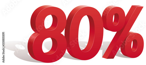 80 percent discount symbol with shadow Canvas-taulu