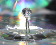 CD Reflection In Water Drop