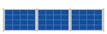 Solar Fence. Photovoltaic Pane...