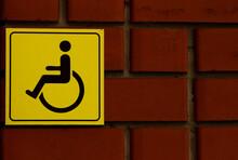 Disabled Parking Sign On Brick...