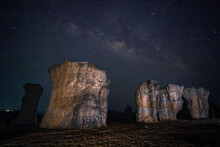 Milky Way With Stonehenge Of T...