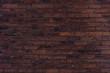 canvas print picture - Dark brick wall pattern background texture