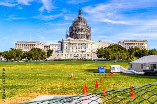 Fototapeta It's Congress Building, Capitol Building in Washington DC, United States of Amer