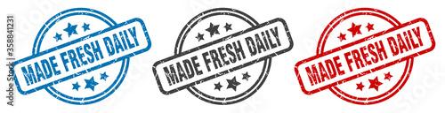 Fototapeta made fresh daily stamp
