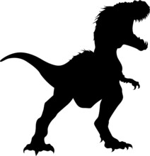 Vector Silhouette Of A Huge Tyranosaurus Rex