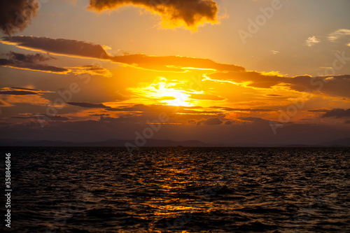 Beautiful Romantic Sunset and the Sea