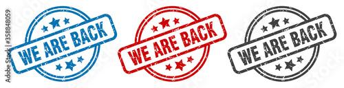 Fotomural we are back stamp