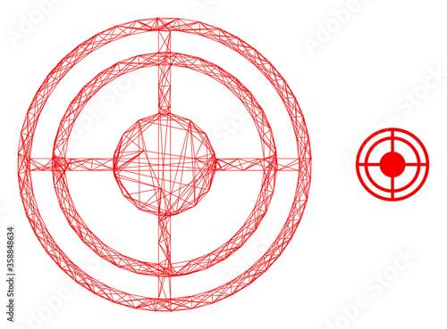 Web carcass bullseye vector icon Canvas Print