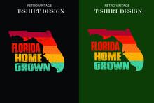 Retro Vintage T-shirt Design F...