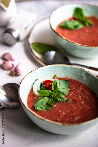 Traditional spanish soup gazpacho Fotobehang