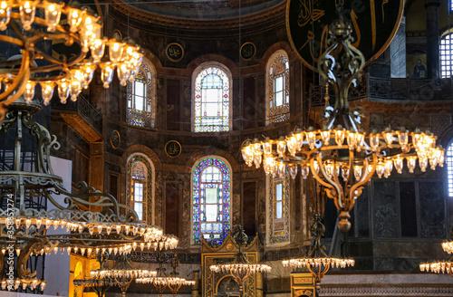 Canvastavla Hagia Sophia Museum in Istanbul, Turkey