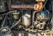 Engine Compartment Of An Old T...