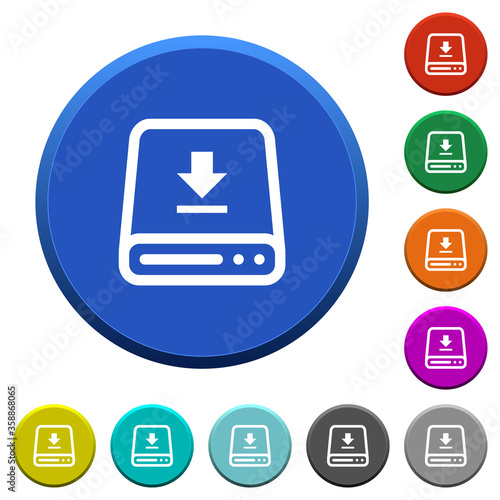 Download to hard drive beveled buttons Wallpaper Mural
