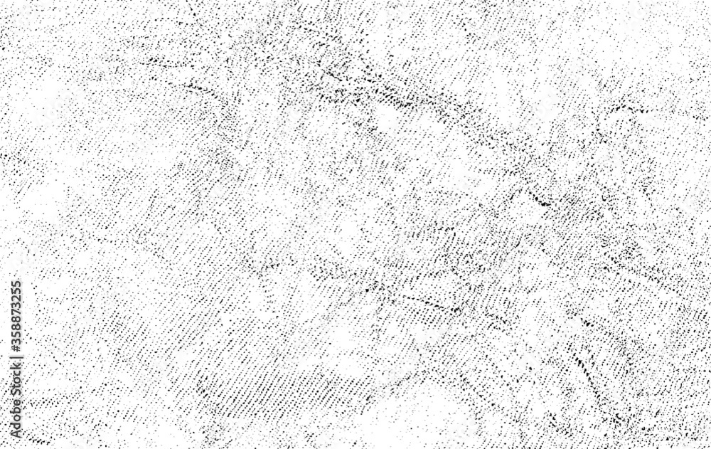 Fototapeta Rough black and white texture vector. Distressed overlay texture. Grunge background. Abstract textured effect. Vector Illustration. Black isolated on white background. EPS10