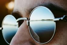 Mirrored Sunglasses Reflected ...