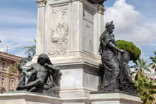 Pedestal Of The Monument To Camillo Cavour