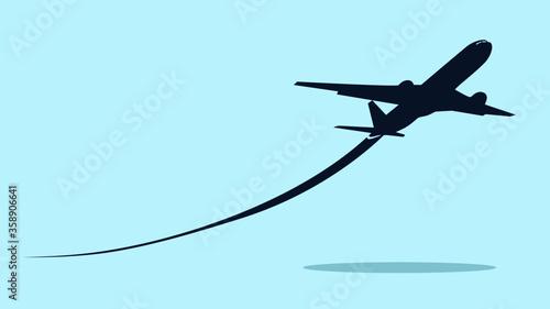 Airplane symbol Wallpaper Mural