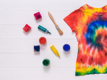Brushes, Paint, And A Tie Dye ...