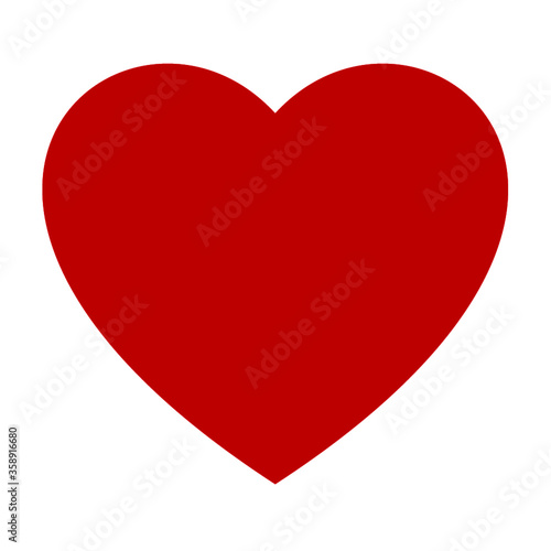 Fototapeta red heart icon vector obraz na płótnie