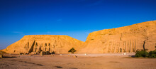 It's Abu Simbel Temples On Sunrise, Abu Simbel, Egypt. UNESCO World Heritage