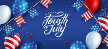 Independence Day USA Banner Te...