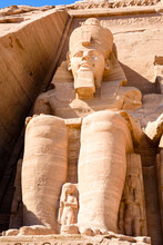 It's Colossus Of The Great Temple Of Ramesses II, Abu Simbel, Egypt