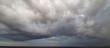Dark stormy clouds in the sky. Cloudscape.