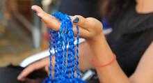 Threads For Weaving. Girl Brai...